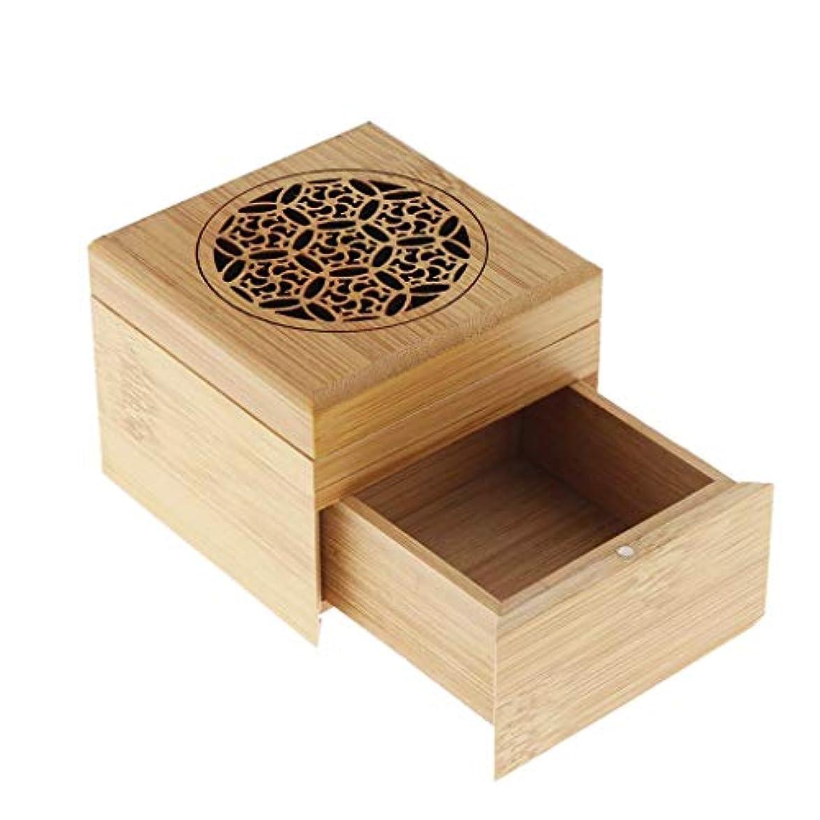 ホームアロマバーナー 竹香スティックホルダーコイル香バーナー収納ボックスアロマセラピーストーブ 芳香器アロマバーナー (Color : A)