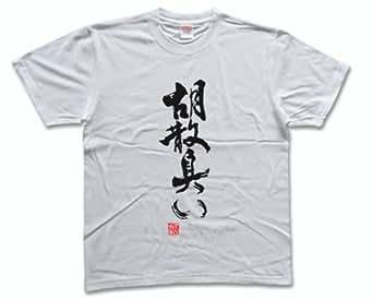 胡散臭い(落款付き) うさんくさい 書道家が書く漢字Tシャツ サイズ:XXXL 白Tシャツ 前面プリント