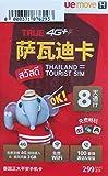 【TRUE MOVE】タイ プリペイドSIM 8日間 3GB 100分無料通話つき