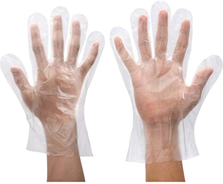 端末スプーン治世[Chinryou] 使い捨て 手袋 500枚 ポリエチレン手袋 透明 ビニール手袋 多機能 使いきり手袋 破れにくい 丈夫 多用途 調理 美容 掃除 介護 便利