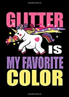 Notebook: Unicorn Glitter Pink Colorful Cute Gift 120 Pages, A4 (About 8,5X11 Inches / Letter), Lined / Ruled, Diary
