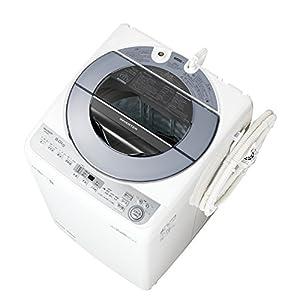 シャープ SHARP 全自動洗濯機 穴なし槽 シルバー系 インバーター搭載 8kg ES-GV8C-S