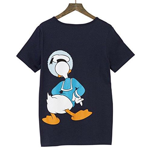 【Disney】ディズニー かくれんぼTシャツ(メンズ) ドナルドダック(ネイビー) L