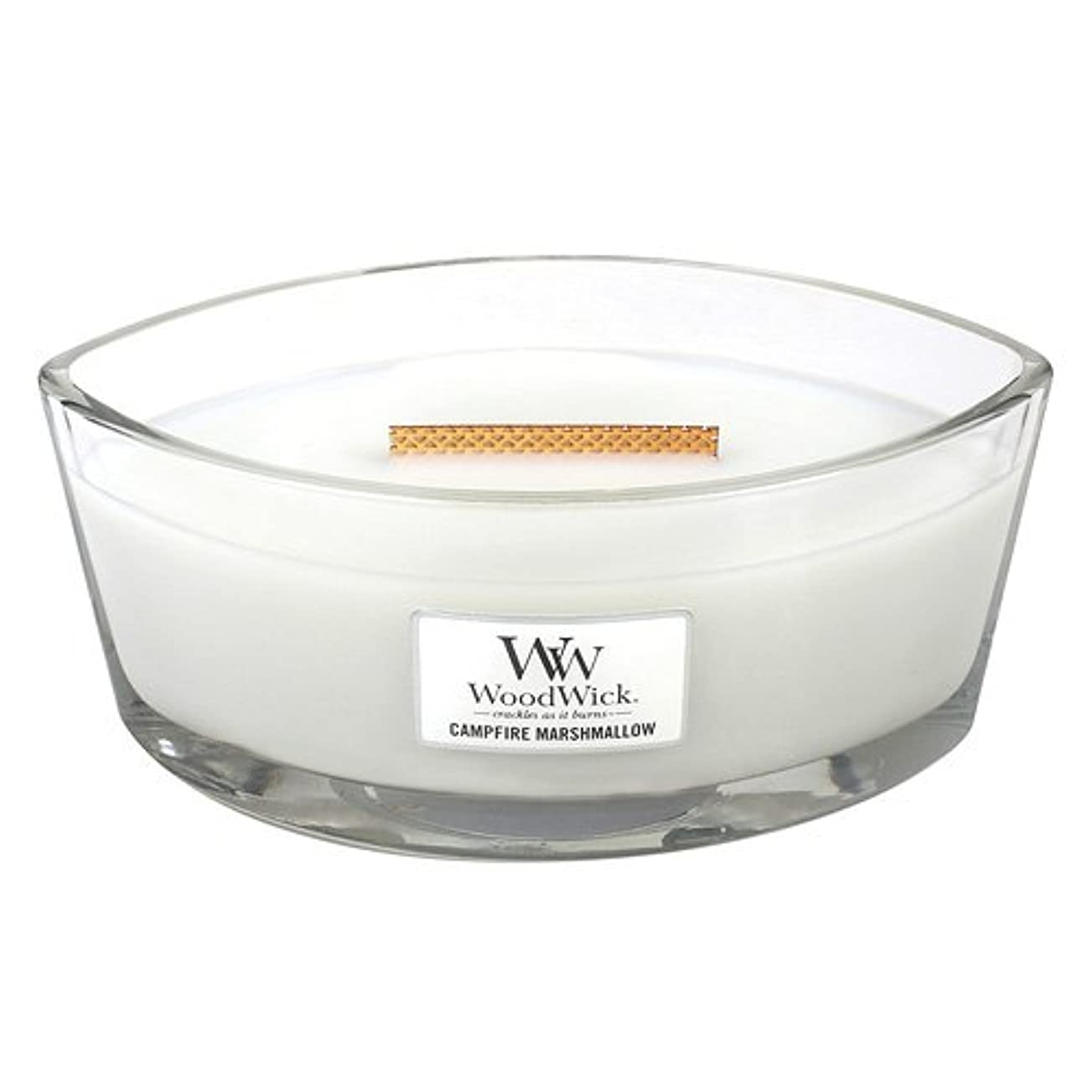 余分な急いで訪問Campfire Marshmallow HearthWick Flame Large Scented Candle by WoodWick