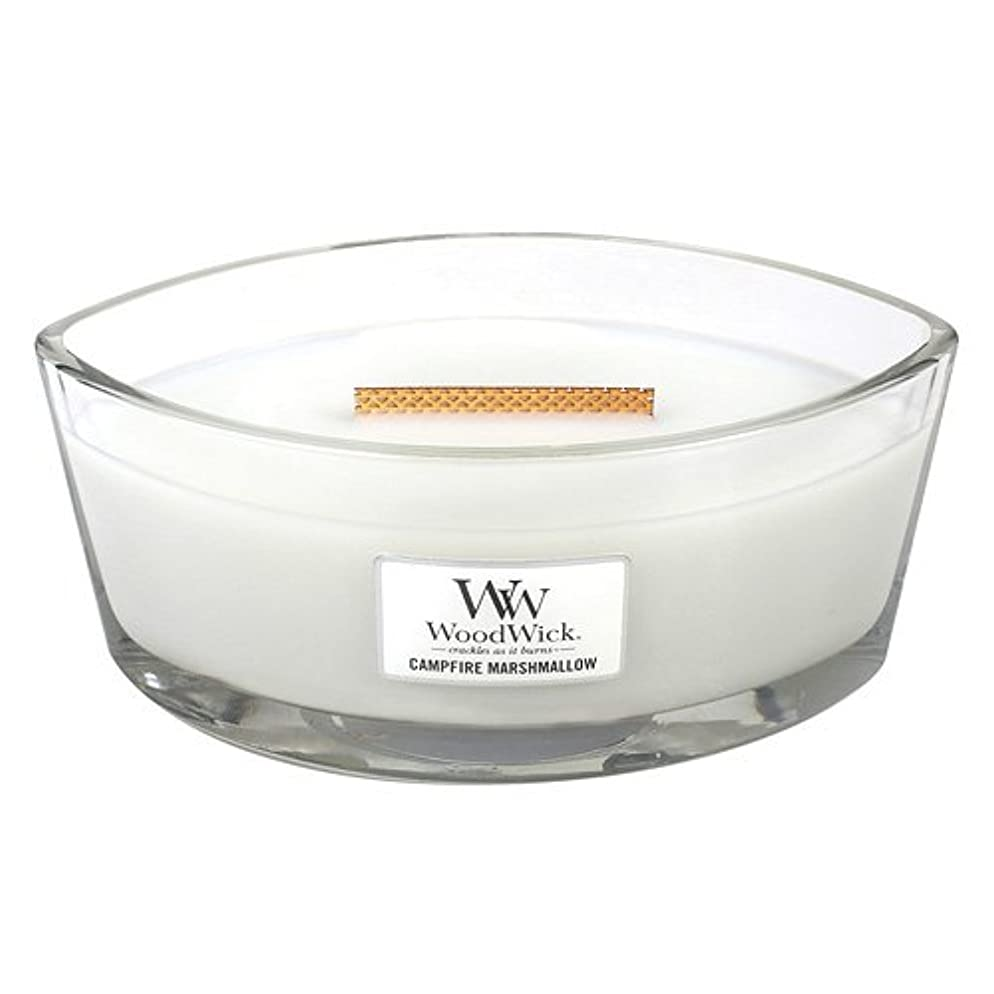 中に自己魔術師Campfire Marshmallow HearthWick Flame Large Scented Candle by WoodWick