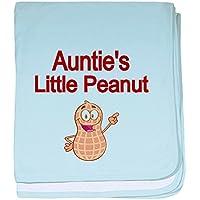 CafePress – Aunties Little Peanut Baby Blanket – スーパーソフトベビー毛布、新生児おくるみ 標準 ブルー 083169600325CD2