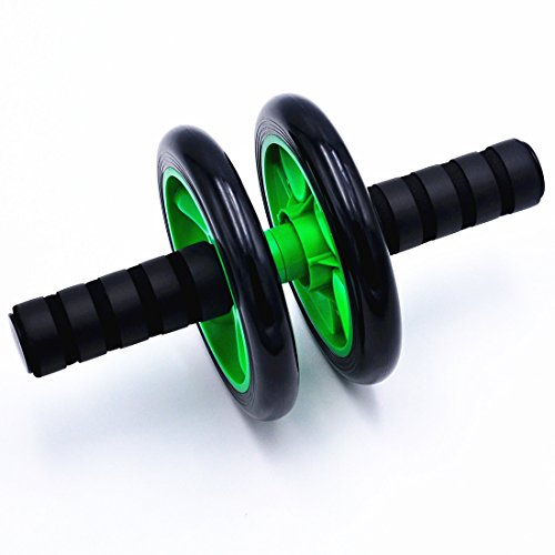 BenRan 腹筋ローラー アクササイズウィル 超静音 アブホイール スリムトレーナー マット付き (グリーン)