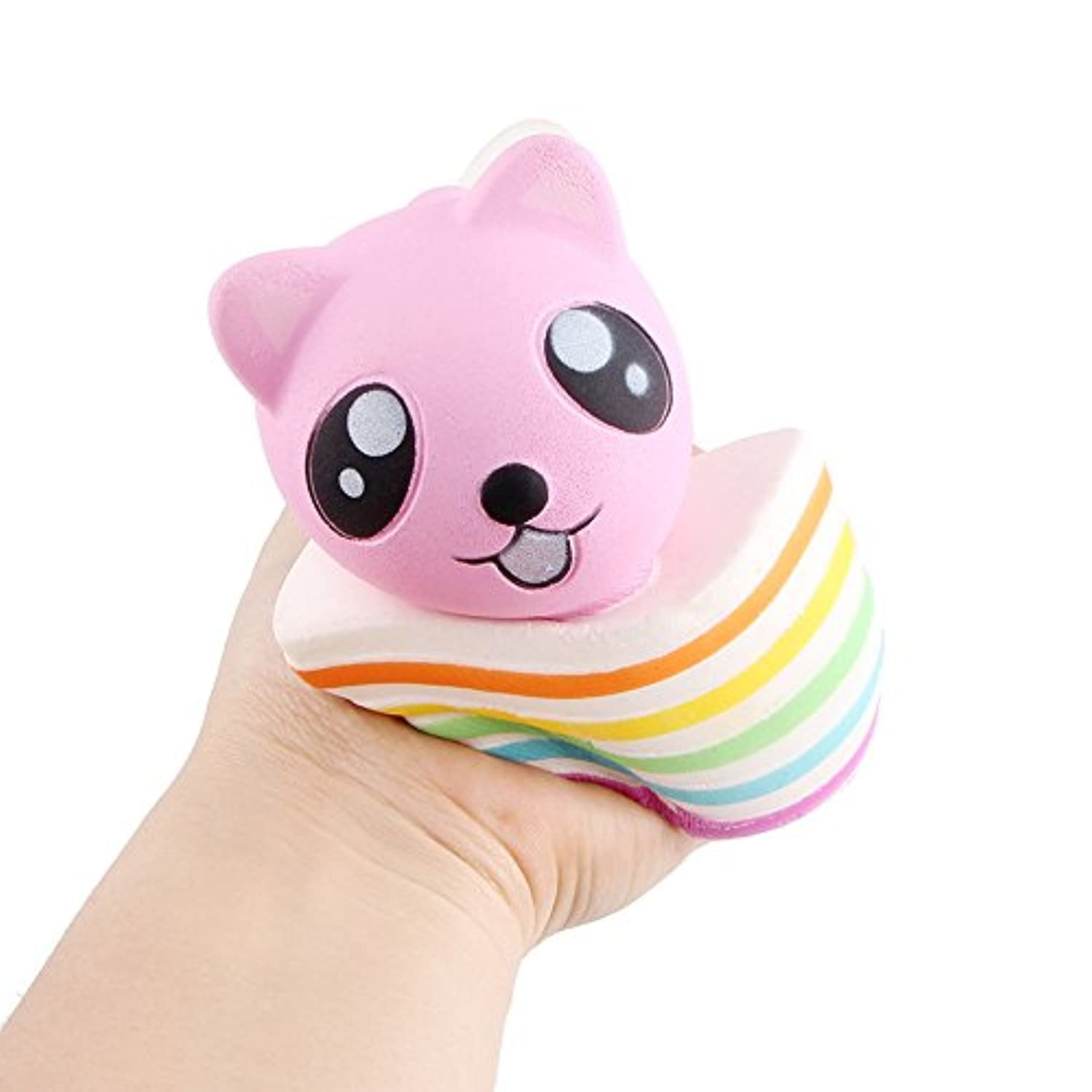 frunalte Slow Rising Squishiesおもちゃ香りつきSqueeze BearケーキStress ReliefトイNice Gift For Kids &大人Squeezing for Kids子供大人Toddlers Funny Bearケーキデザイン A ピンク ZYJ-123