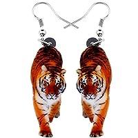 虎 リアル動物 ステンレス ピアス フックピアス 20G 片耳 1個 シングルピアス チャーム ゆれる アクセサリー