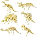 Colorsheng 3D Wooden Puzzle Simulation Animal Dinosaur Assembly DIY Model Toy,Set of 6,for Kids and Adults