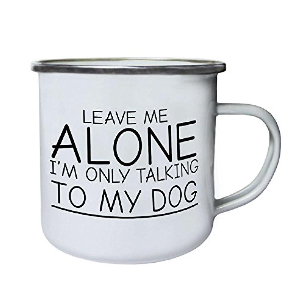 ミント一握りソロLeave Me Alone私はのみTalking to My Dog Funnyレトロ、Tin、エナメル10ozマグii26e