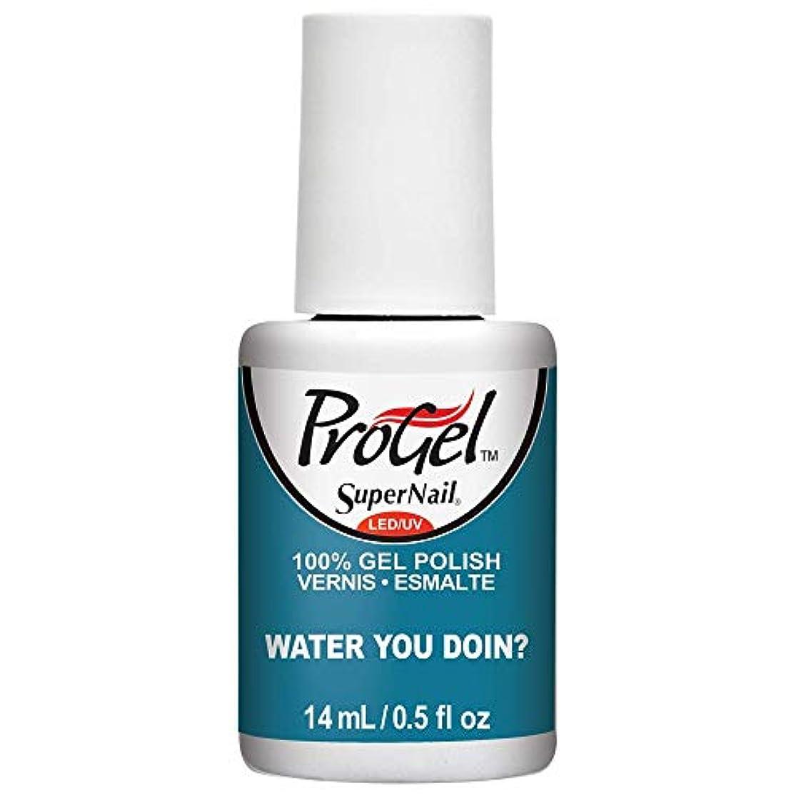 パウダー言う地元SuperNail ProGel Gel Polish - Water You Doin? - 0.5oz / 14ml