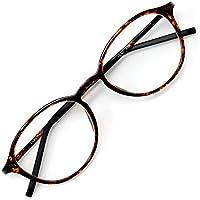 アイウェアエア 35歳からのスマホ老眼鏡 軽量しなやかフレーム ボストン ベッコウ +1.00