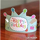HuaQingPiJu-JP 誕生日クラウン帽子誕生日パーティーかわいい髪型ドレスアップ用品(MZ-054)