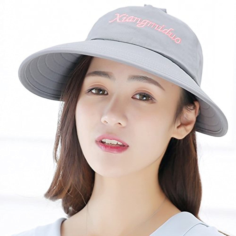 MUMA ハット 野球帽女性のバイザーキャップサンプロテクションアンチUVサンハット 帽子 (色 : グレー)