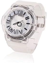 Damara キッズ 腕時計 クオーツ ゴム製ストラップ ローマ数字 ホワイト