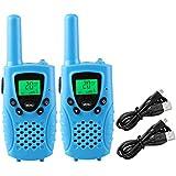 特定小電力トランシーバー wesTayin T38、20ch 機充電式インターホン2台セット、 免許・資格不要で使用できる、低放射線、高音質アマチュア無線機器