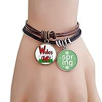 ウェールズの国旗の赤・緑・パターン ブレスレットアクセサリー春新品