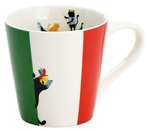 セラミック藍 マグカップ 猫 国旗 イタリア 13103