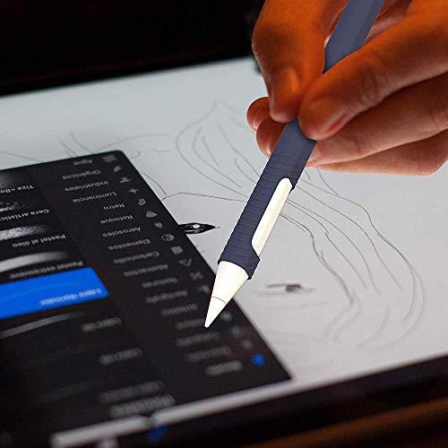 『Oumino Apple Pencil 2 ケース アップルペンシル 第2世代 カバー iPad Pro 11/12.9 ペンシル 適用 令和 シリコン ケース ペンホルダー 全面保護 紛失 落下防止 耐衝撃 軽量 超薄 充電可能 贈り物 (紺)』の6枚目の画像