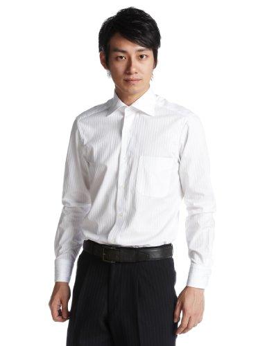 サテンストライプムジセミワイドシャツ 5577 フェアファクス