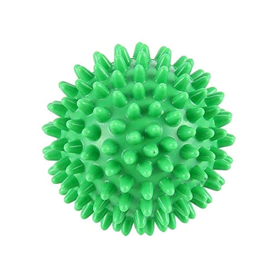 デンマーク苦悩状PVC先端のとがったマッサージボール足の痛みと足底筋膜炎除去剤ハリネズミボール(6cm)
