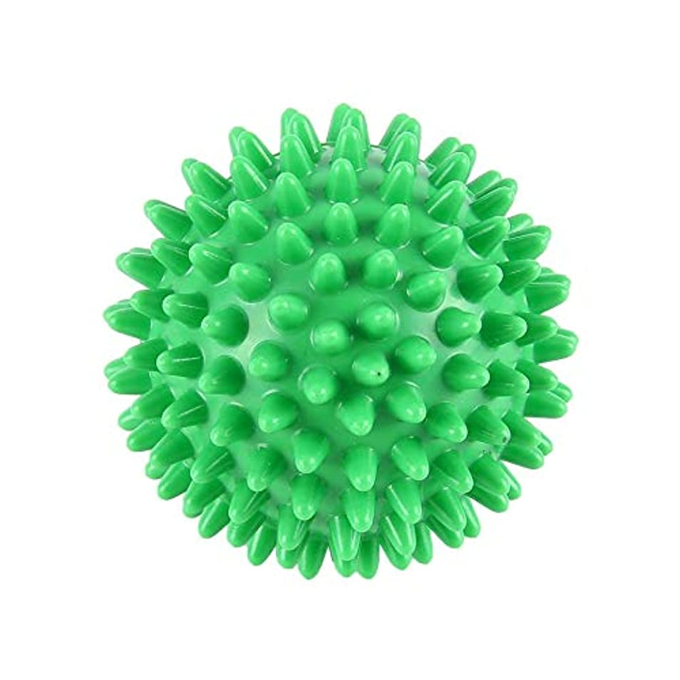 パケット立法レンドPVC先端のとがったマッサージボール足の痛みと足底筋膜炎除去剤ハリネズミボール(6cm)