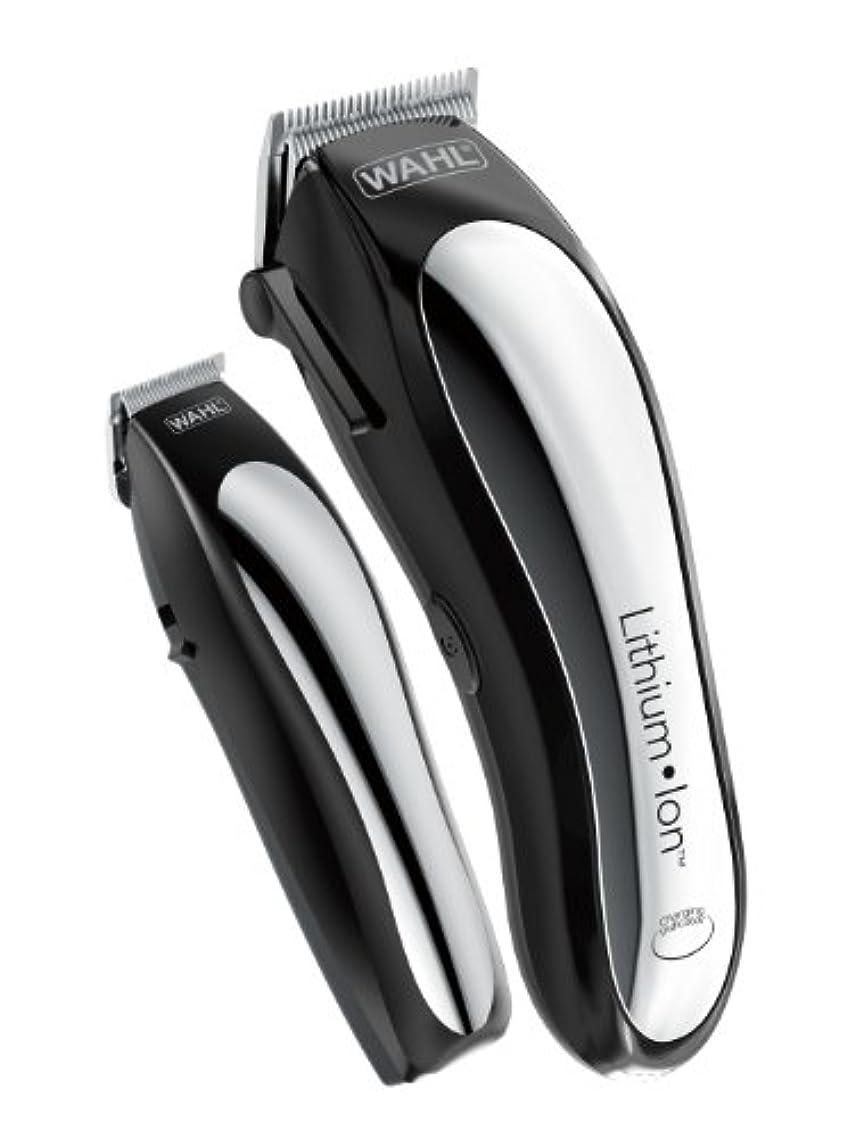 主人男塩辛いWahl Clipper Lithium Ion Cordless Rechargeable Hair Clippers and Trimmers for men,Hair Cutting Kit with 10 Guide...
