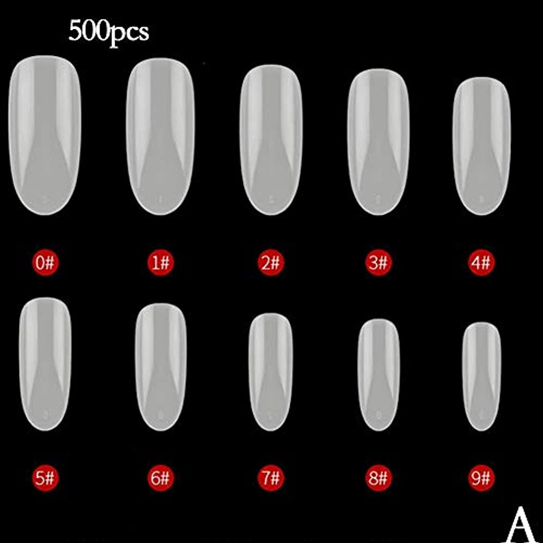 凝視サドル怖がらせるBETTER YOU (ベター ュー) ネイルチップ、ナチュラルカラー、透明色、接着しやすい、剥がれない、ネイルテープ、2色 (A ナチュラル)