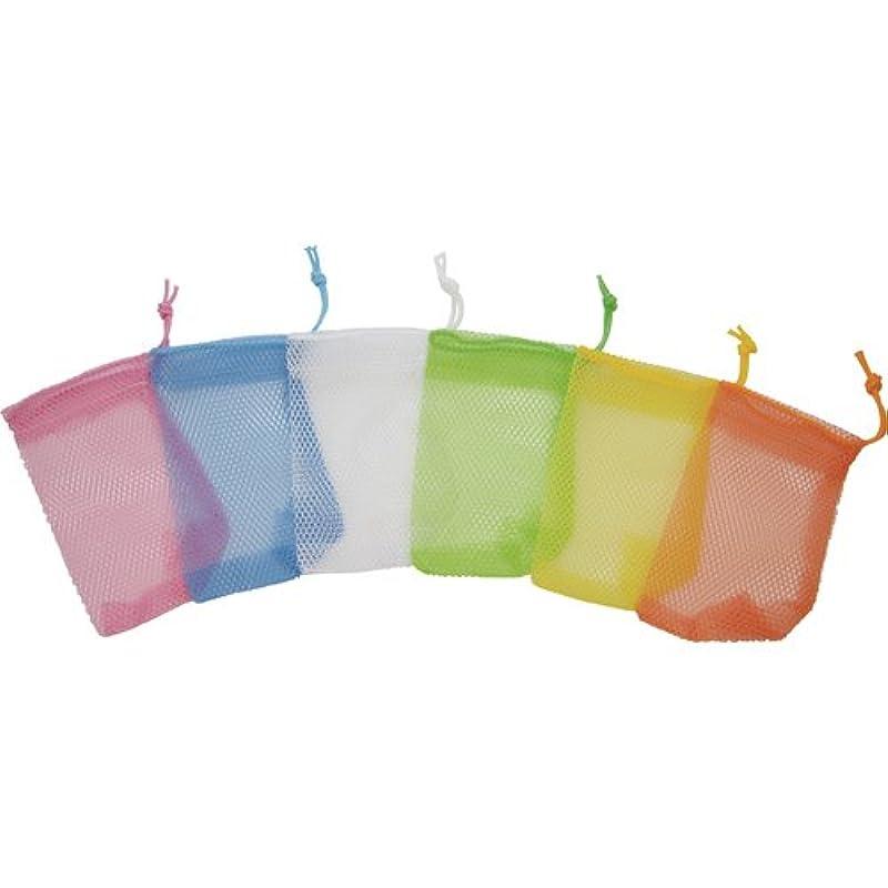 国歌キノコ振るうsanwa(サンワ) 石鹸ネット ひもタイプ 6色アソート 24枚組 101551