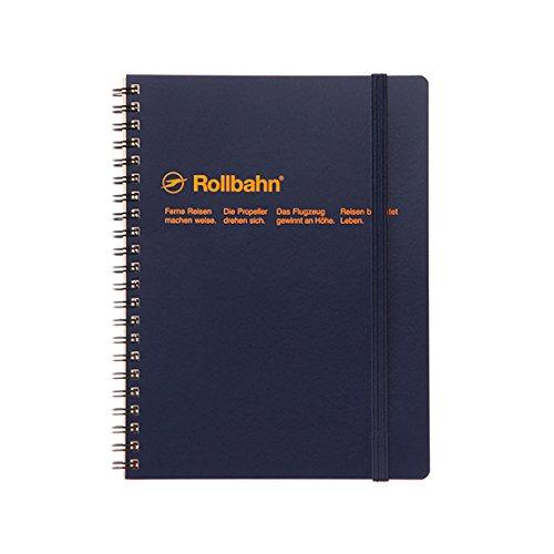 デルフォニックス ロルバーン ポケット付メモ [リング式/切離しミシン目付き] A5 ダークブルー NRP08-DB
