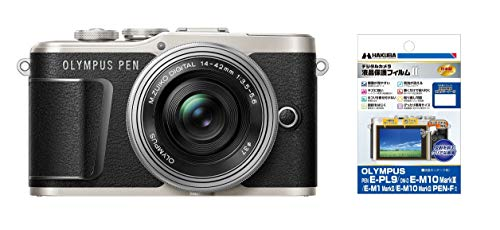 OLYMPUS ミラーレス一眼 PEN E-PL9 レンズキット ブラック + 専用液晶保護フィルムセット