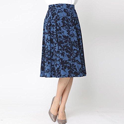 ビアッジョブルー(Viaggio blu) ≪大きいサイズ≫ウォームツイルボタニカルフラワープリントスカート