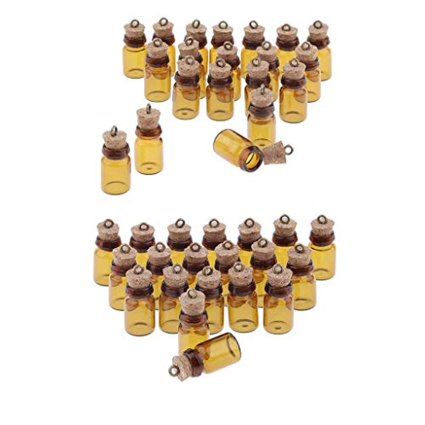 桃発音するアジャ遮光瓶 ガラス瓶 保存容器 コルク栓付き エッセンシャルオイル 香水 詰替え 収納アクセサリー 約20本