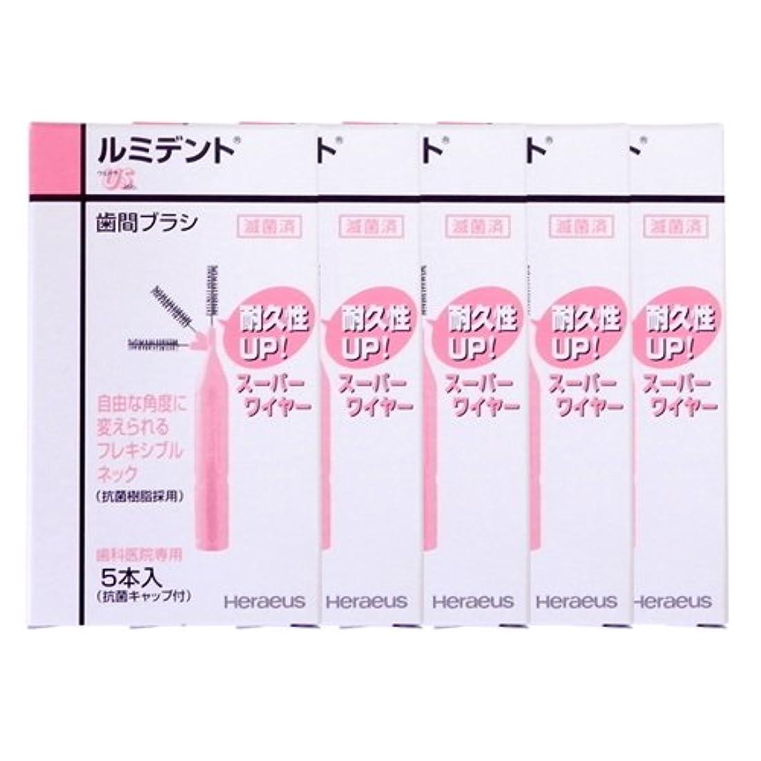 おしゃれな自治的誤ってヘレウス ルミデント 歯間ブラシ 5本入 × 5個 (US(ピンク))