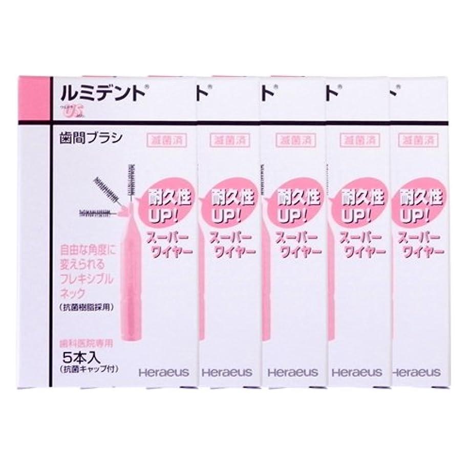 粘性の南愛するヘレウス ルミデント 歯間ブラシ 5本入 × 5個 (US(ピンク))
