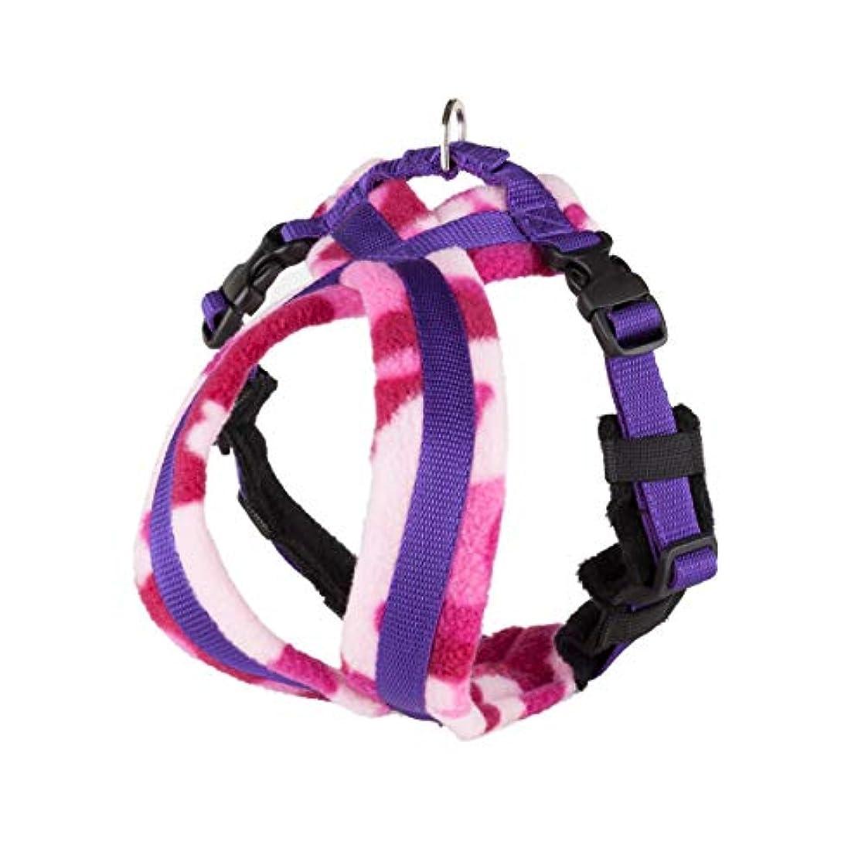 ペンフレンド削る満足Fleece Lined Harness フリースラインドハーネス ピンクカモフラージュ 3号(小~中型犬用)