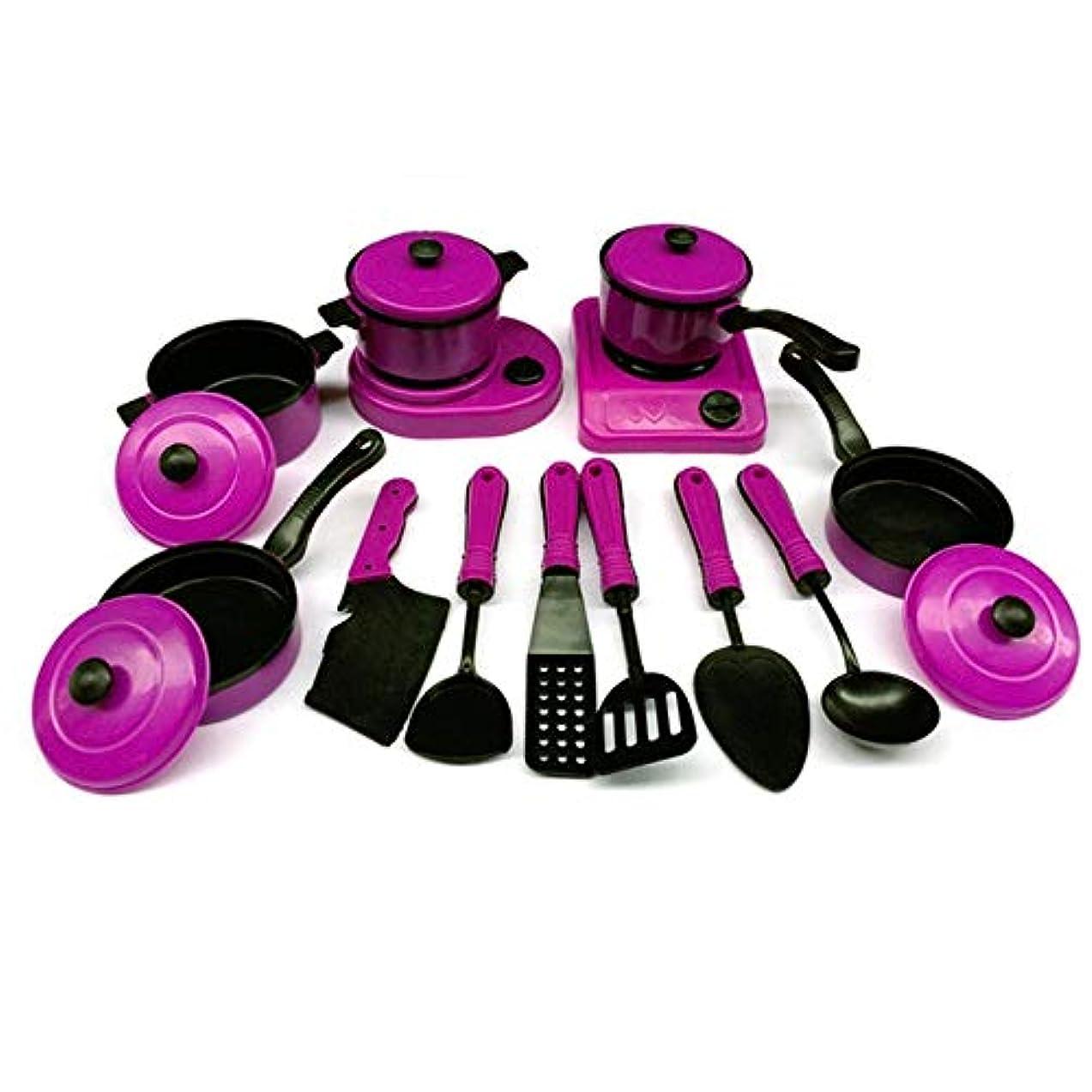 かなりの猟犬悪魔CTA キッチン道具のおもちゃ教育子供のおもちゃプラスチックキッチンプレイセット人工食器調理鍋子供フライパン食品