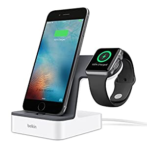 belkin iPhone/Apple Watch同時充電スタンド MFi認定 充電器 iphone7/7plus対応[国内正規品]PowerHouse F8J200QEWHT-A