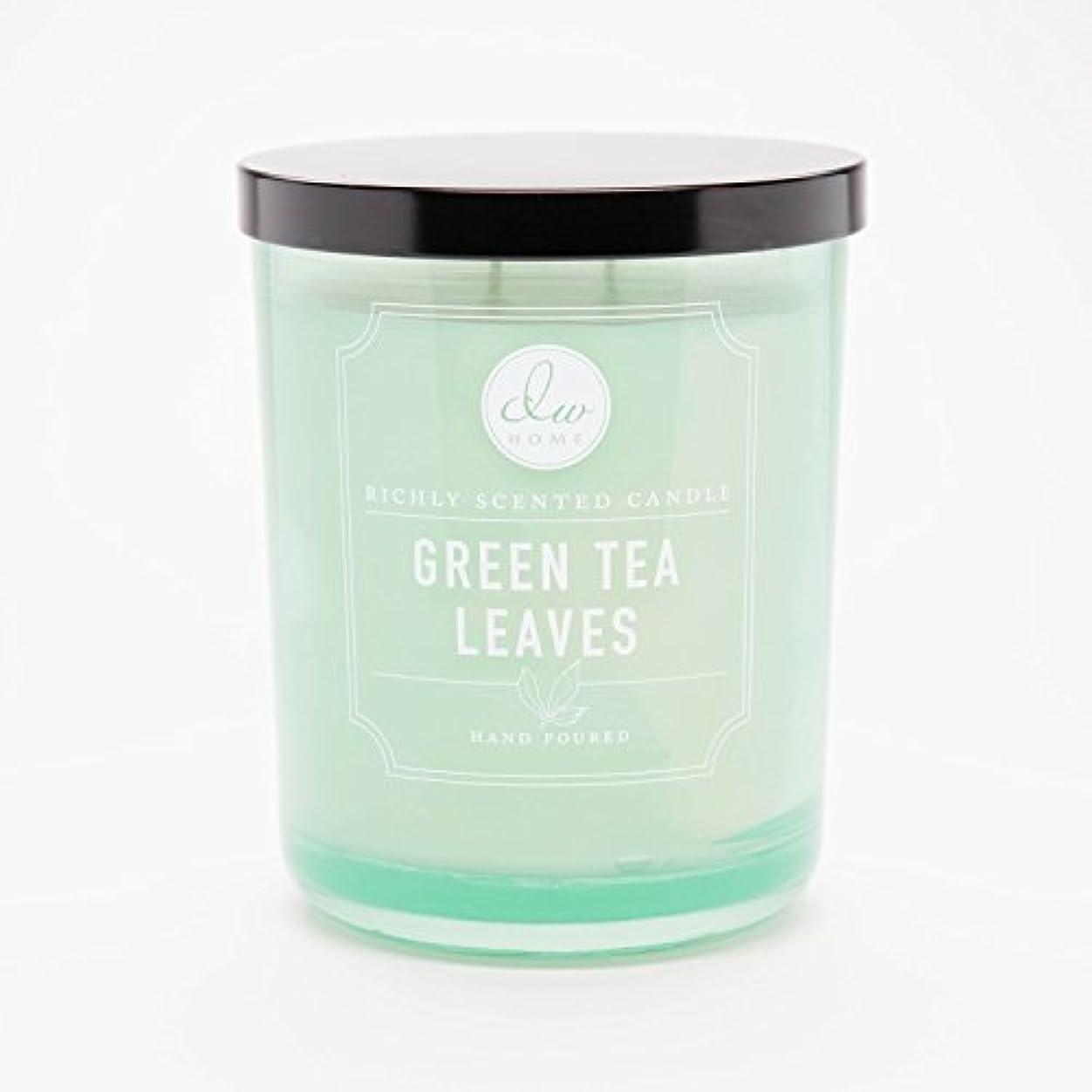 知事絶滅したテンションGreen Tea Leaves Richly Scented Candle Small Single Wick Hand Poured From Dw