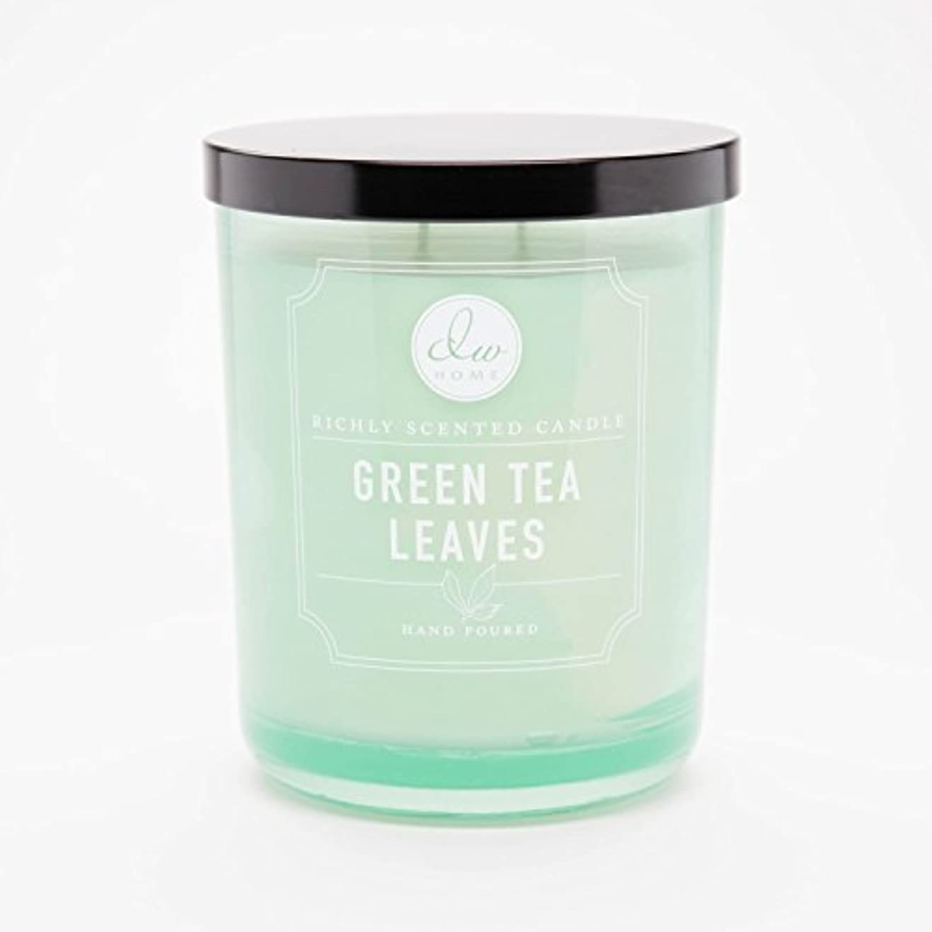 スロベニアより良い実行可能Green Tea Leaves Richly Scented Candle Small Single Wick Hand Poured From Dw
