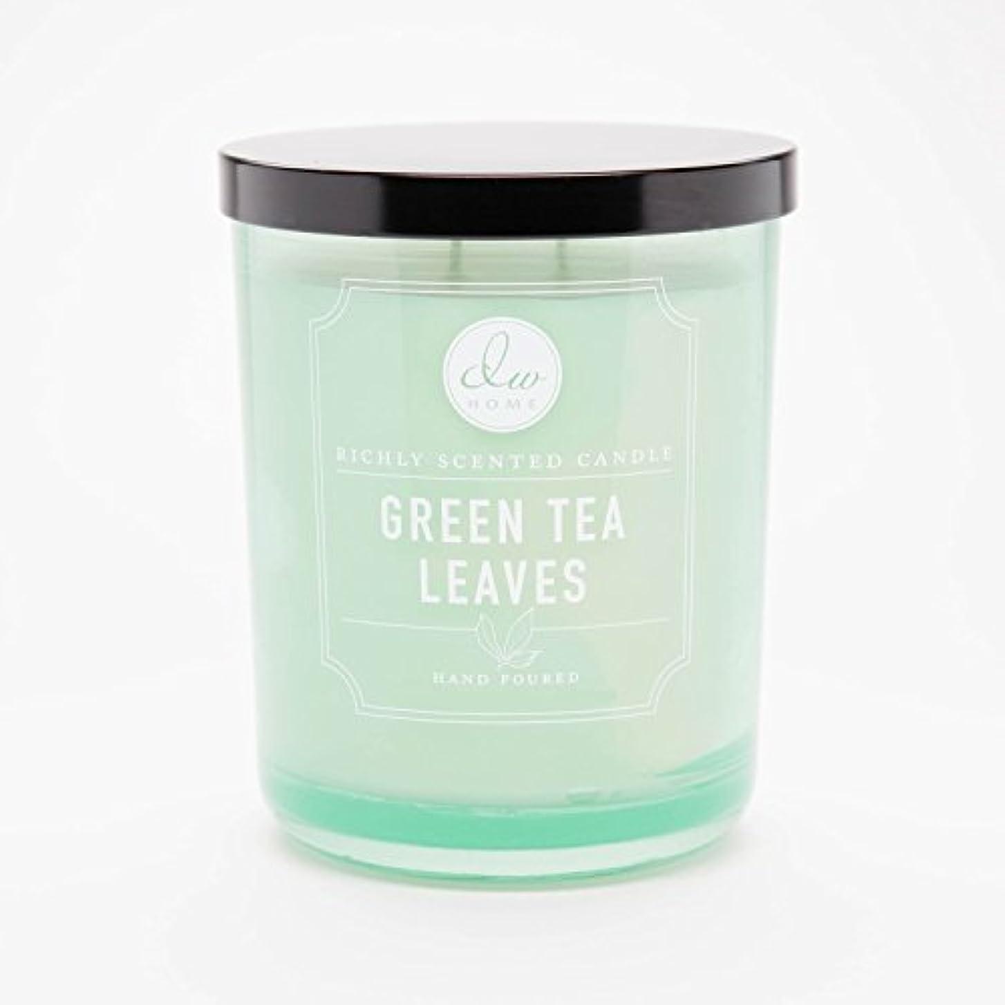 便利さ入る無効にするGreen Tea Leaves Richly Scented Candle Small Single Wick Hand Poured From Dw