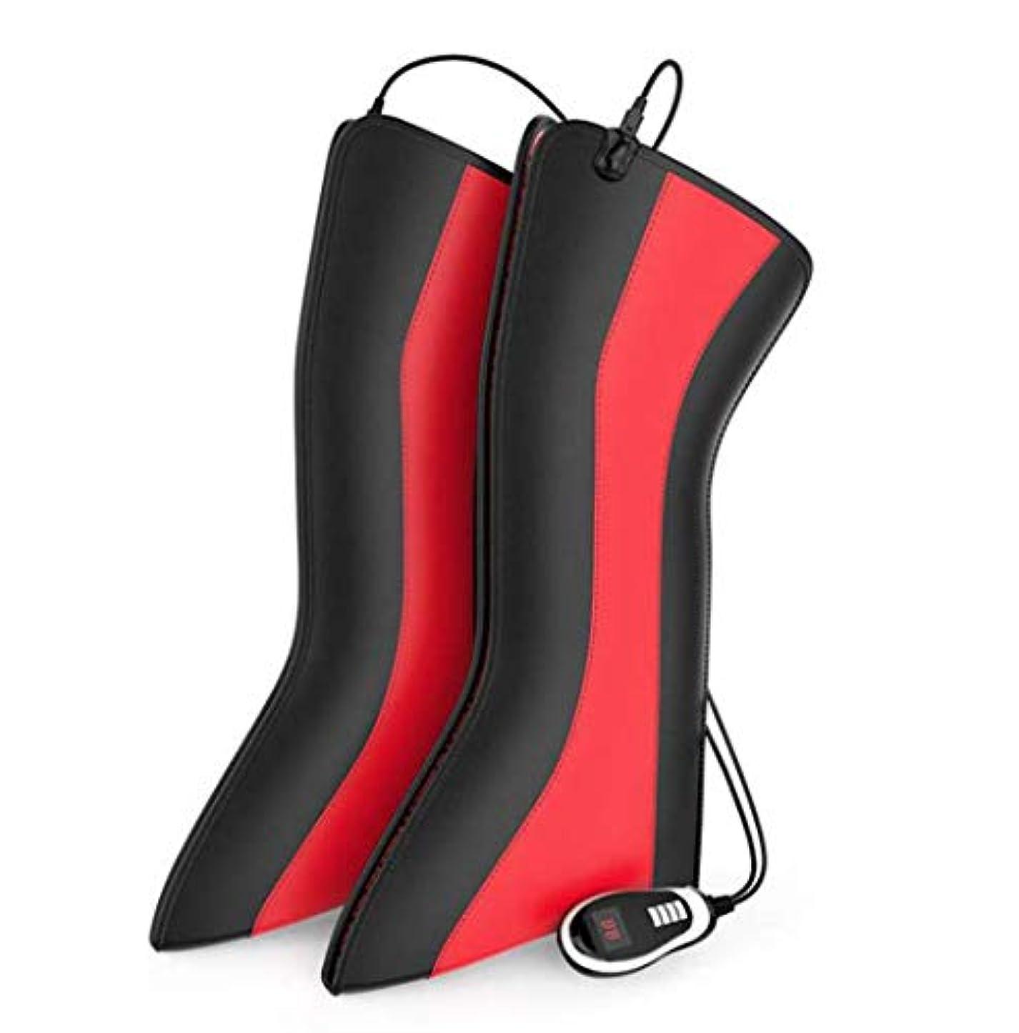 リードワーカー覚えている加熱された膝装具ラップサポート、両親のための温度調節可能な電気加熱膝パッド高齢者の贈り物