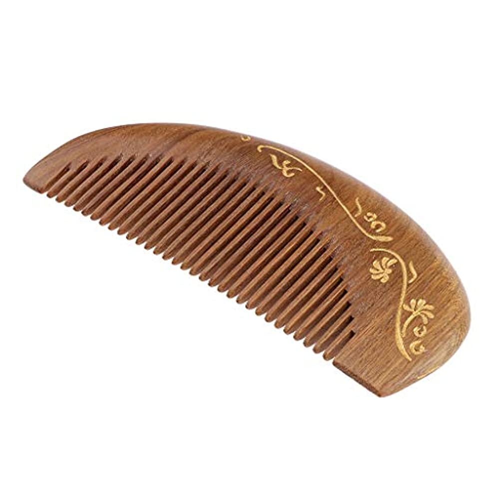 干渉価値のないアクセント帯電防止櫛 ウッドヘアーコーム 頭皮マッサージ 櫛 レトロ 4仕様選べ - #2
