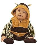 はち コスチューム 【ベビー服 ロンパース カバーオール】 赤ちゃん用 幼児 コスプレ 着ぐるみ おくるみ  衣装 仮装 ハロウィン クリスマス ラブリー かわいい はちさん 蜂さん 虫 昆虫 (80cm)