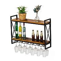 ウォールマウントワインラック/ボトルホルダーガラスラック/ワインラック壁掛けワインボトルホルダー/ワイン棚とガラスラック/コルク収納店赤、白、シャンパン