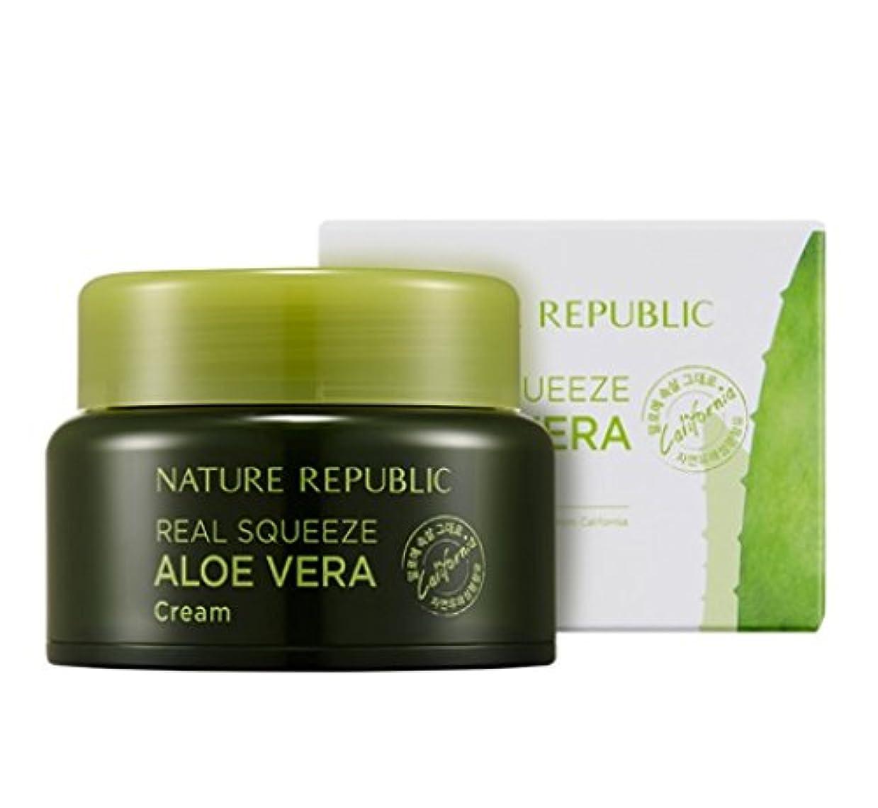 背景お手入れ浸す[Nature Republic]ネイチャーリパブリック[Real Squeeze Aloe Vera Cream](リアルスクィーズアロエベラクリーム) [並行輸入品]