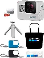 【GoPro公式限定】GoPro HERO7 Black(ダスクホワイト) + Shorty(ダスクホワイト) +スリーブ+ランヤード(黒&青) + SDカード32GB + 非売品トートバッグ&ステッカー