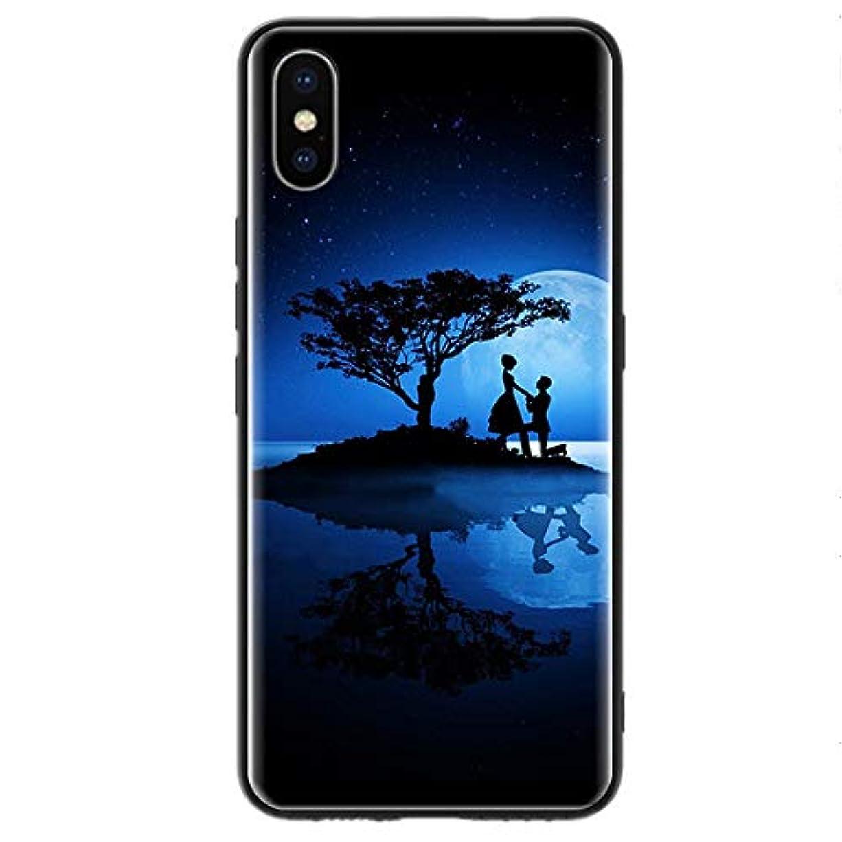 概してもう一度累積iPhone X 専用ケース 背面強化ガラスxTPUハイブリッドカバー 滑り止め 発光電話ケース ガラスシェル クリエイティブソフトカバー[ 薄型 軽量 ] [ ワイヤレス充電対応 ] [ レンズ保護 耐衝撃 指紋防止 ]