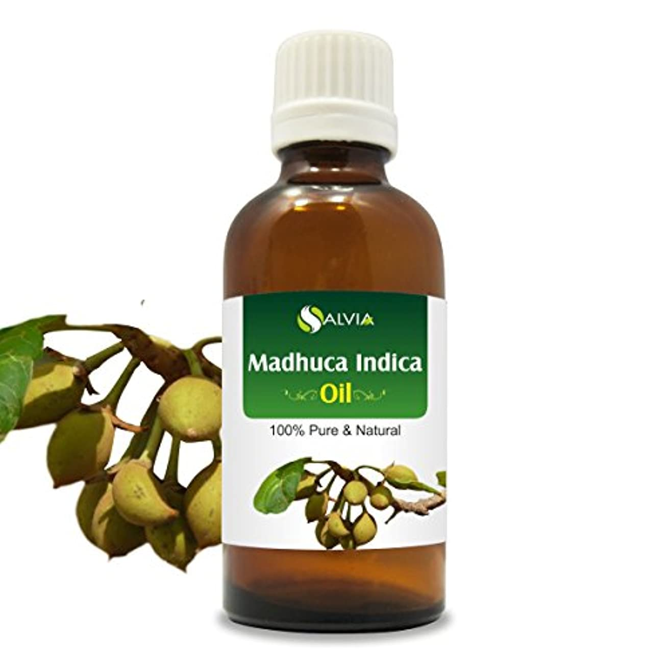 ぎこちないすごい頭痛MADHUCA INDICA OIL 100% NATURAL PURE UNDILUTED UNCUT ESSENTIAL OIL 100ML